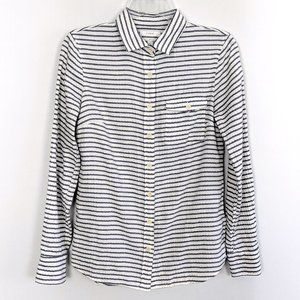 J. Crew Boy Cut Striped Cotton Button Down Shirt